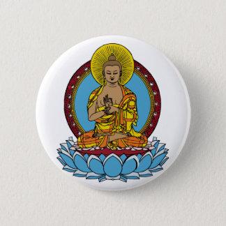 Dharmachakra Buddha Pinback Button