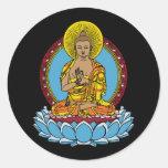 Dharmachakra Buddha Round Sticker
