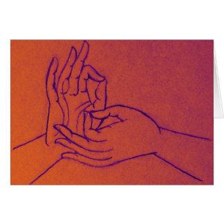 Dharmachakra Mudra Greeting Card
