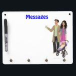 "DHG Dry Erase Board   4 key chain holders (9&quot;x12&quot;)<br><div class=""desc"">If you have purchased your DesignHerGals hi-resolution image,  you can upload your image on any of our Zazzle products to order. You can also use any of our cute product designs as is or with an image of your choice! For questions,  please email helpmegal@designhergals.com.</div>"