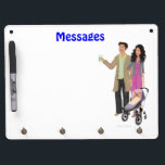 """DHG Dry Erase Board   4 key chain holders (9&quot;x12&quot;)<br><div class=""""desc"""">If you have purchased your DesignHerGals hi-resolution image,  you can upload your image on any of our Zazzle products to order. You can also use any of our cute product designs as is or with an image of your choice! For questions,  please email helpmegal@designhergals.com.</div>"""
