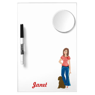 """DHG Dry Erase Board with mirror (12"""" x 8"""")"""