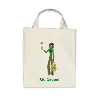DHG Organic Grocery Tote Canvas Bag