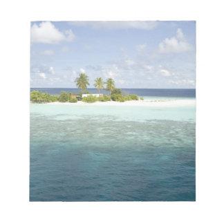 Dhiggiri Island, South Ari Atoll, The Maldives, Notepad