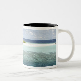 Dhiggiri Island, South Ari Atoll, The Maldives, Two-Tone Coffee Mug