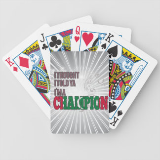 Dhivehin and a Champion Bicycle Playing Cards