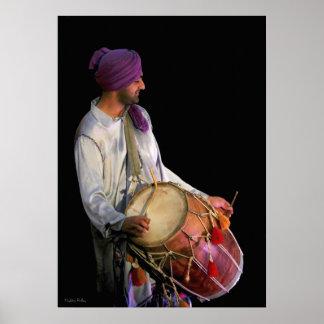 Dhol Drummer, Fine Art Photograph Poster