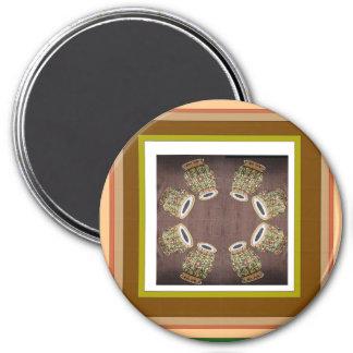 DHOLAK Drum used in folk dances of India 3 Inch Round Magnet