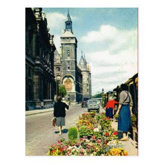 d'Horloge del vintage París, de París Quai y del v Tarjetas Postales