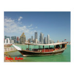 Dhow 2011 y horizonte de Doha Tarjeta Postal