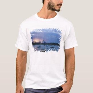 Dhows at sunset, Vilanculos Harbor, Bazaruto T-Shirt