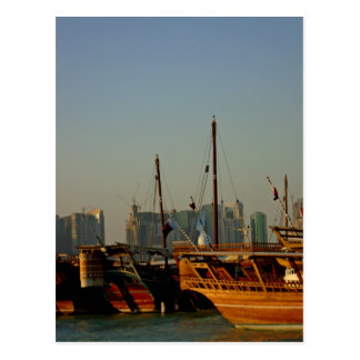 Dhows in the harbor no2 postcard