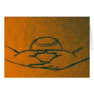 Dhyana/Buddhapatra Mudra Greeting Card