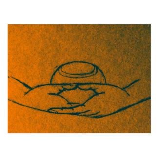 Dhyana/Buddhapatra Mudra Postcard
