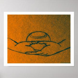 Dhyana/Buddhapatra Mudra Poster