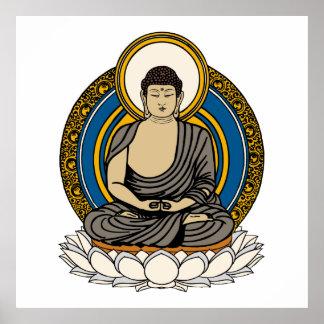Dhyana Mudra Buddha Meditation Poster