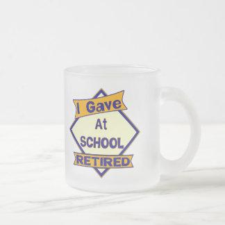 Di en la escuela taza cristal mate
