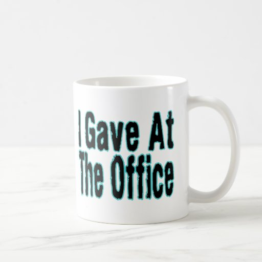 Di en la oficina taza de café