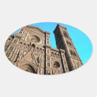 Di Firenze del Duomo de IL Pegatina Ovalada