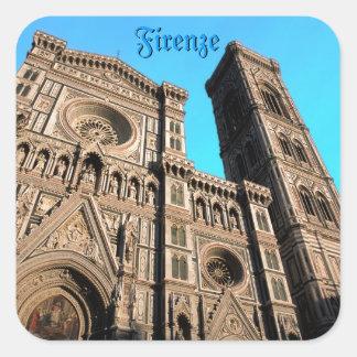 Di Firenze del Duomo de IL Pegatina Cuadrada