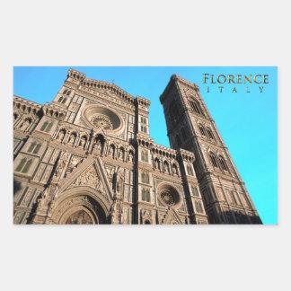 Di Firenze del Duomo de IL Pegatina Rectangular