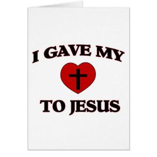 Di mi (corazón) a Jesús Tarjeta De Felicitación