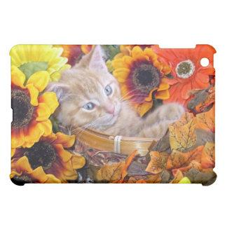 Di Milo, Fun Kitty Cat Kitten in Basket of Flowers Cover For The iPad Mini
