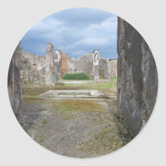 Di Pompeya de Ufficio Scavi Pegatina Redonda