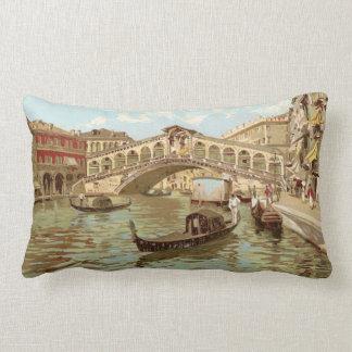 Di Rialto, Venezia de ponte de la postal de Italia Cojín