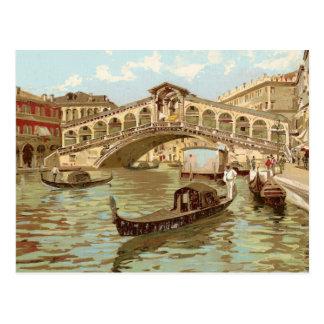Di Rialto, Venezia de Ponte de ponte de la postal