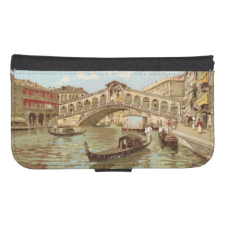Di Rialto, Venezia de Ponte de ponte de la postal Billeteras Para Teléfono