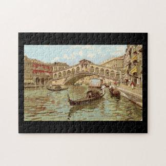 Di Rialto, Venezia de Ponte de ponte de la postal Rompecabezas Con Fotos