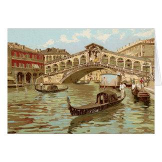 Di Rialto, Venezia de Ponte de ponte de la postal Tarjeta De Felicitación