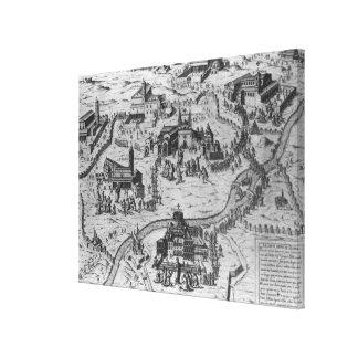 Di Roma, 1575 de Le Sette Chiesa Impresión En Lona