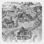 Di Roma, 1575 de Le Sette Chiesa Pegatina Cuadrada