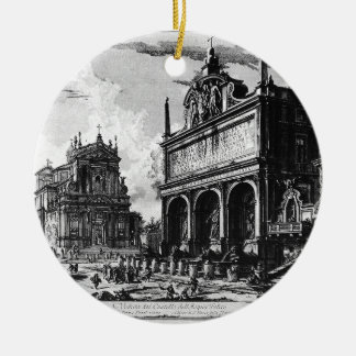Di Roma de Vedute de Giovanni Battista Piranesi Adorno Navideño Redondo De Cerámica