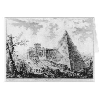 Di Roma de Vedute de Giovanni Battista Piranesi Tarjeta De Felicitación