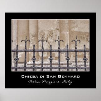 Di San Gennaro, Praiano, costa de Chiesa de Amalfi Poster