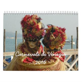 Di Venezia de Carnevale - carnaval de Venecia Calendario De Pared