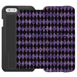 DIA1 BK-PR MARBLE iPhone 6/6S WALLET CASE