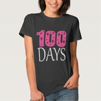 día 100s de camisa linda del fiesta de la escuela