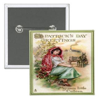 Día 14 del St Patricks del vintage Pins