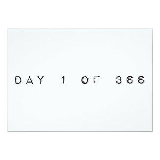 """día 1 de 366 AÑOS BISIESTOS FELICES Invitación 5"""" X 7"""""""