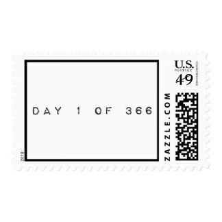 día 1 de 366 AÑOS BISIESTOS FELICES Sello