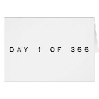 día 1 de 366 AÑOS BISIESTOS FELICES Tarjeta De Felicitación