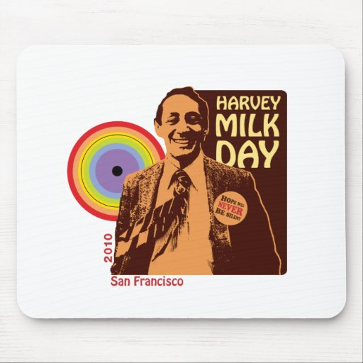 Día 2010 de Harvey Milk Tapetes De Raton
