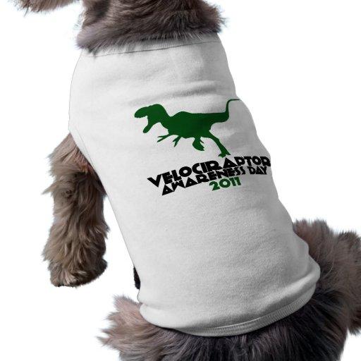 Día 2011 de la conciencia del Velociraptor Playera Sin Mangas Para Perro