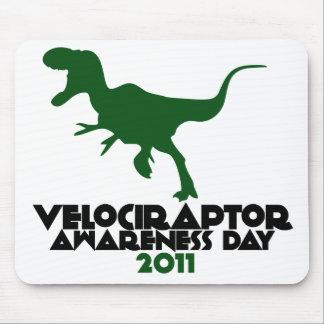 Día 2011 de la conciencia del Velociraptor Alfombrillas De Raton