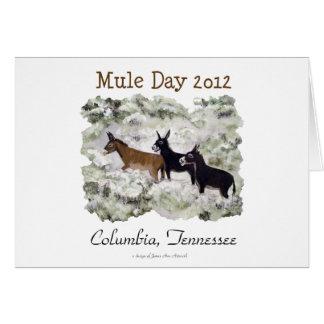 """""""Día 2012 de la mula: Columbia, Tn."""" Tarjeta horiz"""