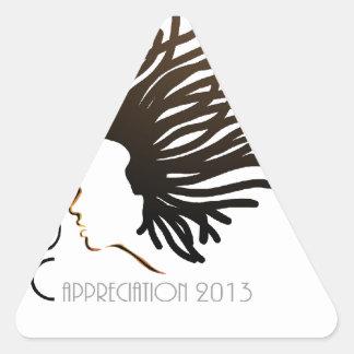 Día 2013 del aprecio del LOC Calcomanías De Trianguladas